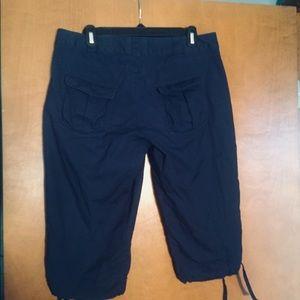 Helly Hansen Cotton capris, size 8, navy blue